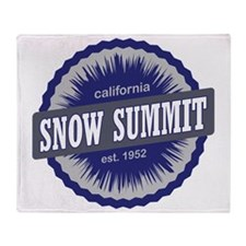 Snow Summit Ski Resort California Na Throw Blanket