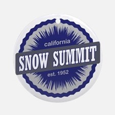Snow Summit Ski Resort California N Round Ornament