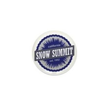 Snow Summit Ski Resort California Navy Mini Button