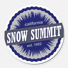 Snow Summit Ski Resort California Round Car Magnet