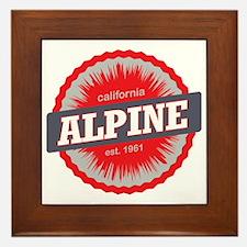Alpine Meadows Ski Resort California R Framed Tile