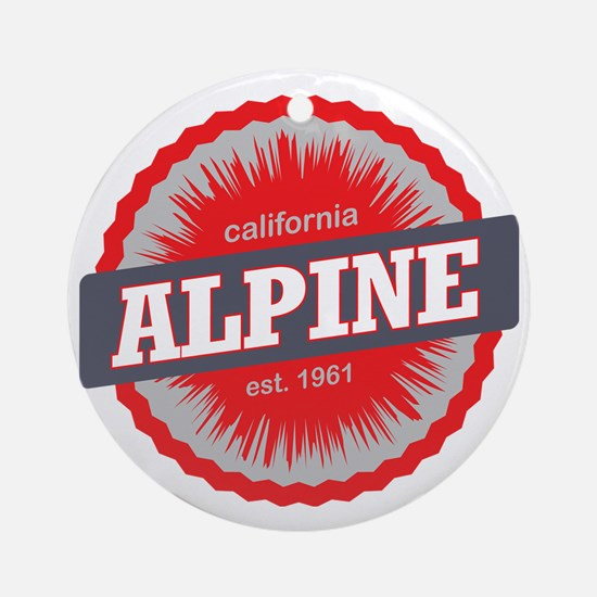 Alpine Meadows Ski Resort Californi Round Ornament