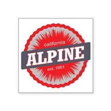 "Alpine Meadows Ski Resort C Square Sticker 3"" x 3"""