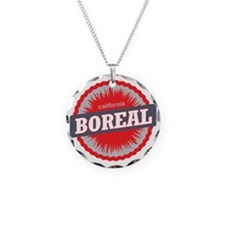 Boreal Mountain Ski Resort C Necklace