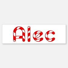 Alec - Candy Cane Bumper Bumper Bumper Sticker