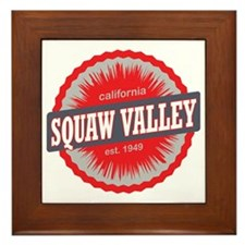 Squaw Valley Ski Resort California Red Framed Tile