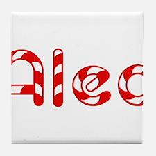 Alec - Candy Cane Tile Coaster