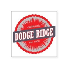 "Dodge Ridge Ski Resort Cali Square Sticker 3"" x 3"""
