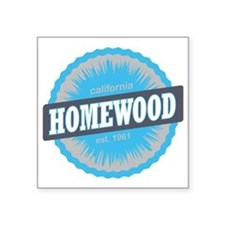 "Homewood Mountain Ski Resor Square Sticker 3"" x 3"""
