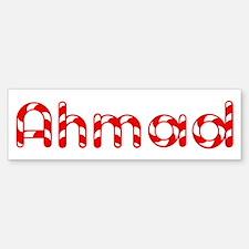Ahmad - Candy Cane Bumper Bumper Bumper Sticker