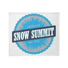 Snow Summit Ski Resort California Sk Throw Blanket