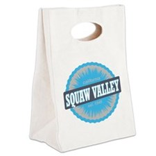 Squaw Valley Ski Resort Californ Canvas Lunch Tote