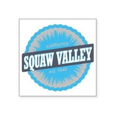 "Squaw Valley Ski Resort Cal Square Sticker 3"" x 3"""