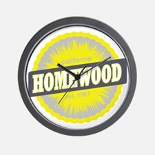 Homewood Mountain Ski Resort California Wall Clock