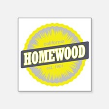 "Homewood Mountain Ski Resor Square Sticker 3"" x 3"""