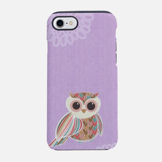 Purple Owl iPhone 7 Tough Case