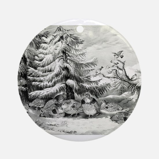 Snowed up - ruffed grouse in winter - 1867 Round O