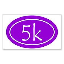 Purple 5k Oval Decal