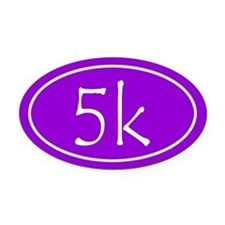 Purple 5k Oval Oval Car Magnet