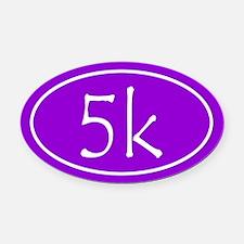 Purple 5k Oval Oval Car Magnet