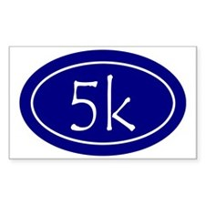 Blue 5k Oval Decal