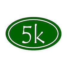 Green 5k Oval Oval Car Magnet