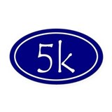 5k oval Oval Car Magnets