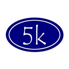 Blue 5k Oval Oval Car Magnet