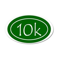 Green 10k Oval 35x21 Oval Wall Decal