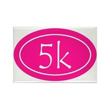 Pink 5k Oval Rectangle Magnet