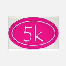 Pink 5k Oval Rectangle Magnet