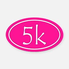 Pink 5k Oval Oval Car Magnet