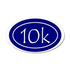 Blue 10k Oval 35x21 Oval Wall Decal