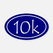 Blue 10k Oval Oval Car Magnet