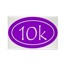Purple 10k Oval Rectangle Magnet