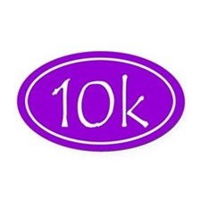 Purple 10k Oval Oval Car Magnet