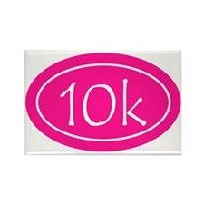 Pink 10k Oval Rectangle Magnet