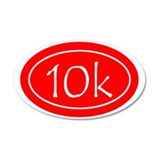 Red 10k Oval 35x21 Oval Wall Decal