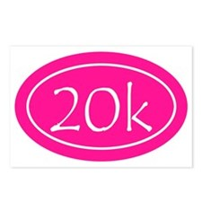 Pink 20k Oval Postcards (Package of 8)