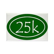 Green 25k Oval Rectangle Magnet