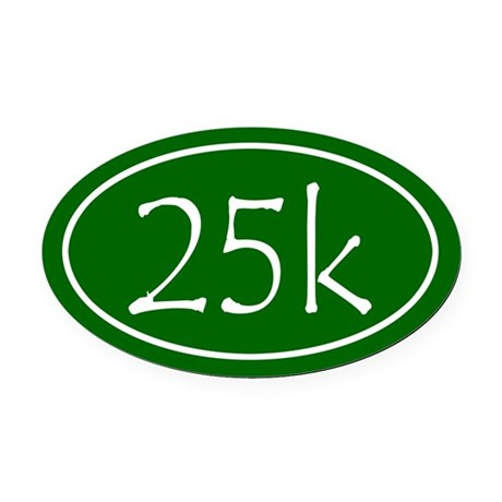 Green 25k Oval Oval Car Magnet