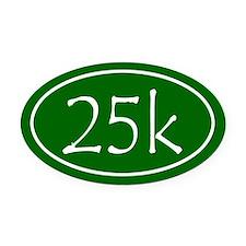 Green 25k Oval Oval Car Magnet