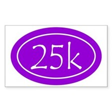 Purple 25k Oval Decal