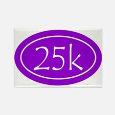 Purple 25k Oval Rectangle Magnet