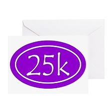 Purple 25k Oval Greeting Card