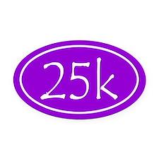 Purple 25k Oval Oval Car Magnet