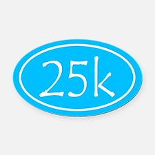 Sky Blue 25k Oval Oval Car Magnet