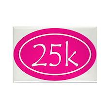 Pink 25k Oval Rectangle Magnet