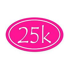 Pink 25k Oval Oval Car Magnet