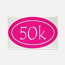 Pink 50k Oval Rectangle Magnet